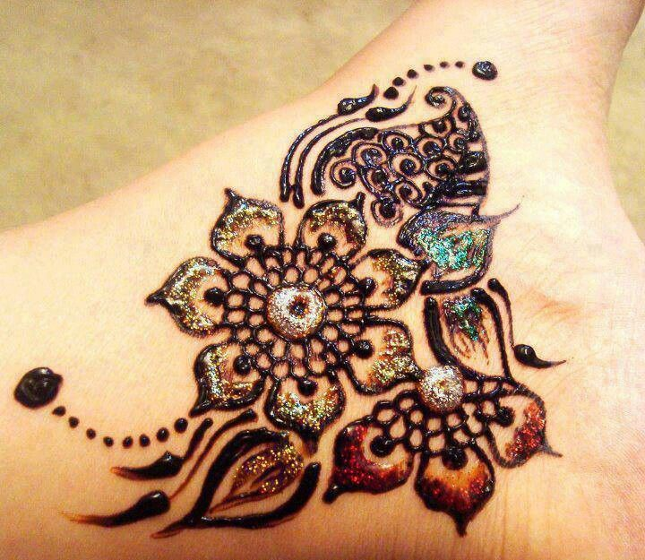 Back Mehendi Design